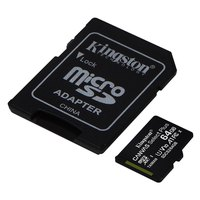 Kingston Canvas Select Plus MicroSD Class 10 64GB With SD Adapter